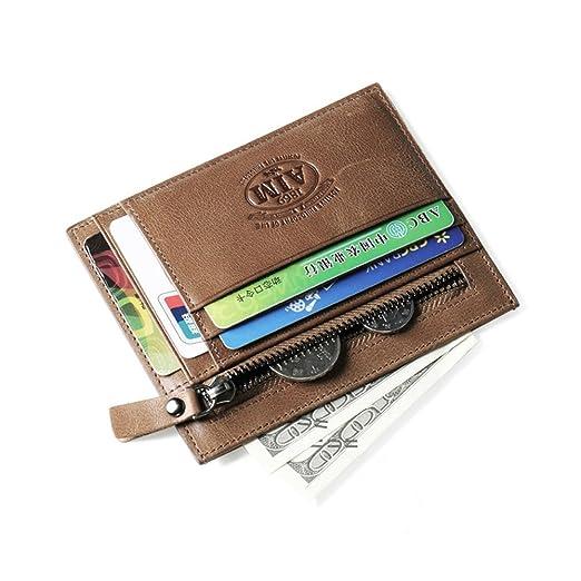 2dc034b460a9 AIM Genuine Leather Men Wallets Man Famous Small Coin Zipper Mini Male  Purses Card Holder Wallet