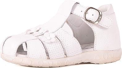 Kone Girl's Classic White Floral Sandal