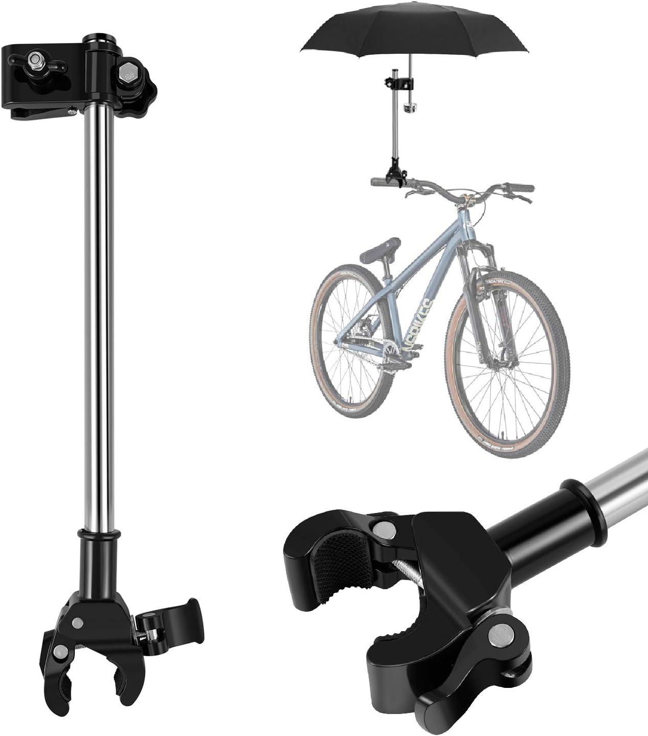 mango de tubo de longitud ajustable montura universal para manillar accesorios para bicicleta cochecito de ruedas Flexzion Soporte para paraguas de bicicleta montaje r/ápido