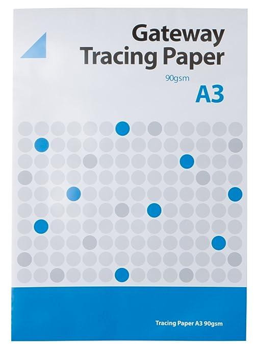 Amazon.com: West 90 gsm Pad A3, 40 hojas Natural papel de ...