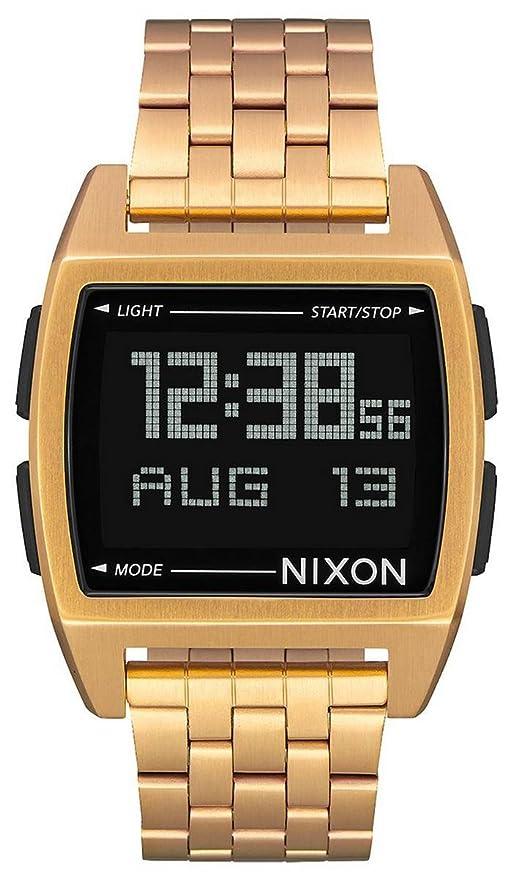 Nixon Base - Reloj (Reloj de Pulsera, Masculino, Acero Inoxidable, Oro,