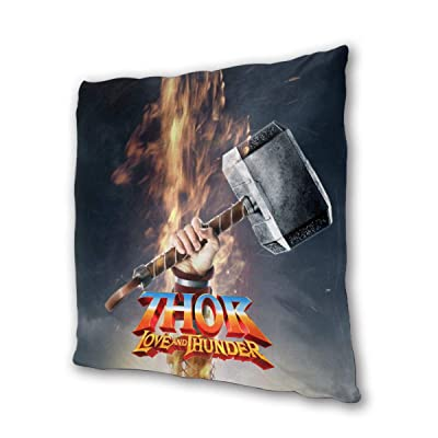 "NOT BRAND Thor Love and Thunder Outdoor/Indoor Cushions 18.5""x 18.5"", 2 Pieces: Home & Kitchen"