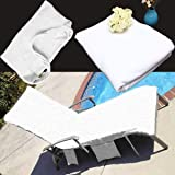Chair Cover Punctual Chair Beach Towel Lounge Chair Beach Towel Cover Microfiber Pool Lounge Chair Cover With Pockets Quick Drying 82.5''x27.5'' Home & Garden