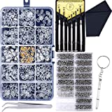 Upgrade Version Eyeglass Repair Kit,1500 Pcs More Complete Glasses Screws Kit and Nose Pads with 6 Pcs Screwdrivers and 3 Pcs Tools for Glasses, Eyeglasses and Sunglasses Repair