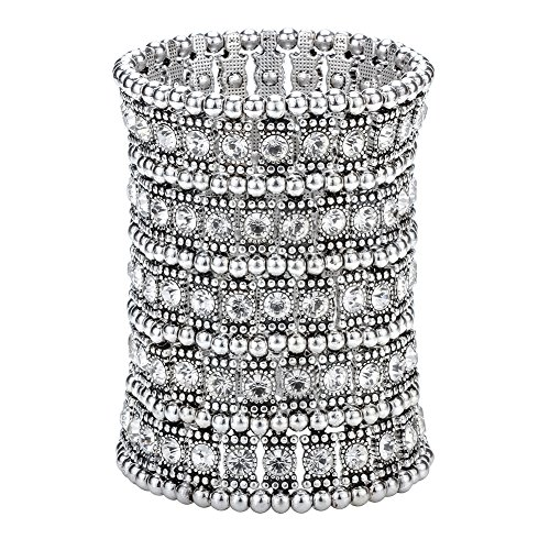 Hiddleston Multilayer 5 Row Jewelry Gothic Stretch Bracelet Sleeve Arm Cuff Rocker Wristband Heavy Metal Bobo Halloween Costume Women Accessory -