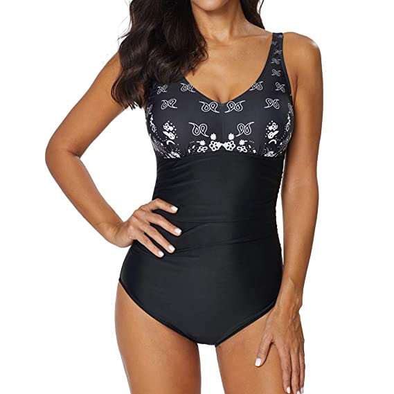 K-Youth Trajes de Baño Mujer Push Up Monokini de Mujer Talla Grande Sexy Bañador Una Pieza Natacion Moda Verano Ropa de Baño Bra Bikini Brasileño ...