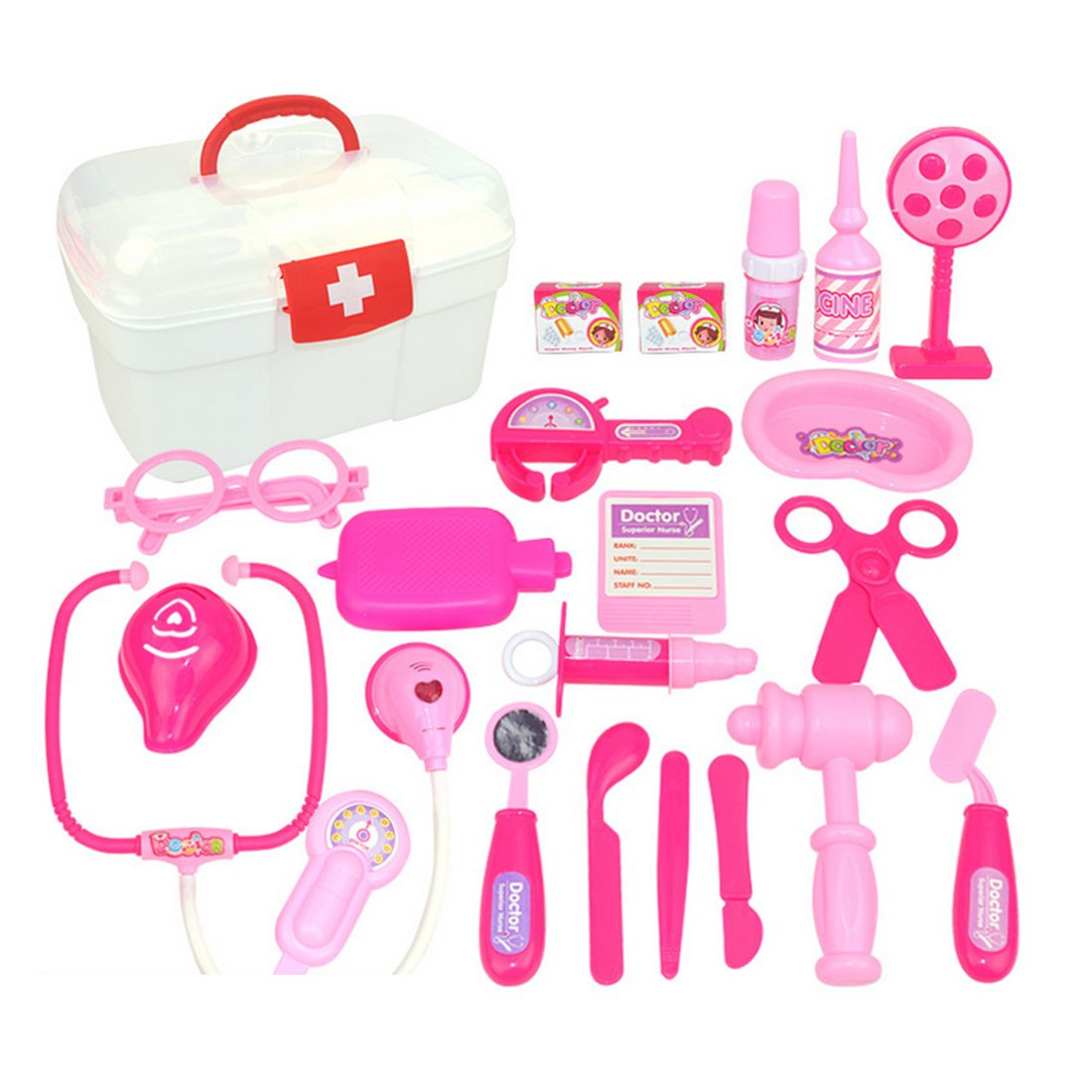 Giplar 22er Arztkoffer Set Doktor Spielzeug Arzt Zubehör Rollenspiele Spielzeug für Kinder ab 3 Jahren