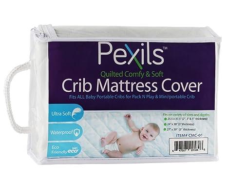 Amazon.com: pexils (TM) bebé Pack N Play Cuna Colchón Pad ...