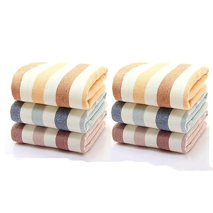 Toallas Toallas de algodón Tela de rayas simple Toalla de cara de algodón Hotel SPA Toalla