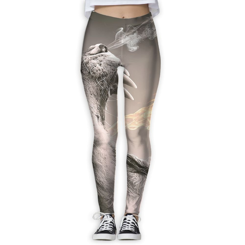 Animal Roaring Images 3D Printing Yoga Leggings Pants Sport ...