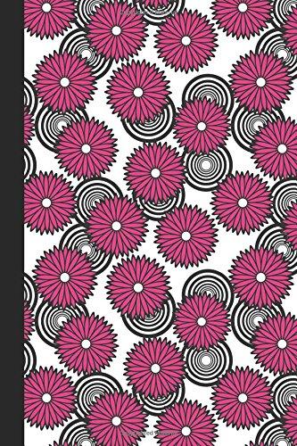 Journal: Spirals and Flowers (Pink) 6x9 - DOT JOURNAL - Journal with dotted pages (Spirals and Swirls Dot Journal Series)