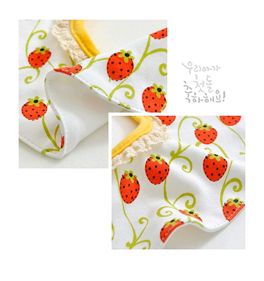 Organic Absorbent Cotton Drooling for Toddlers Girls Boys Newborn Baby Unisex Bandana Drool Funny Cartoon Bibs with Snaps