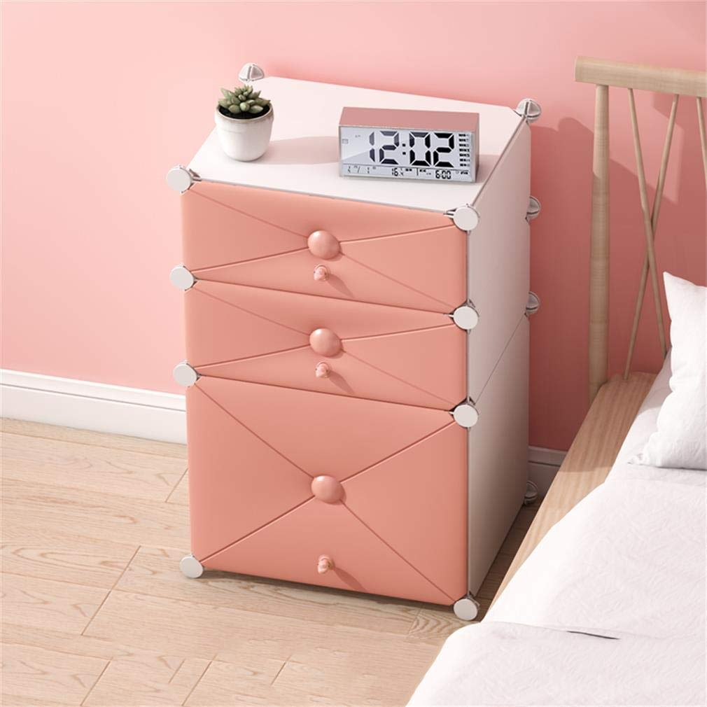 F ALUS- Bedside Table Simple Multi-Functional Assembly Locker Mini Storage Cabinet
