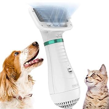 DADYPET Cepillo para Perros y Gatos, secador de Pelo para Perros y ...