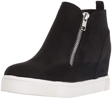 924d7e6174b Steve Madden Girls  JWEDGIE Sneaker Black 1 M US Little Kid