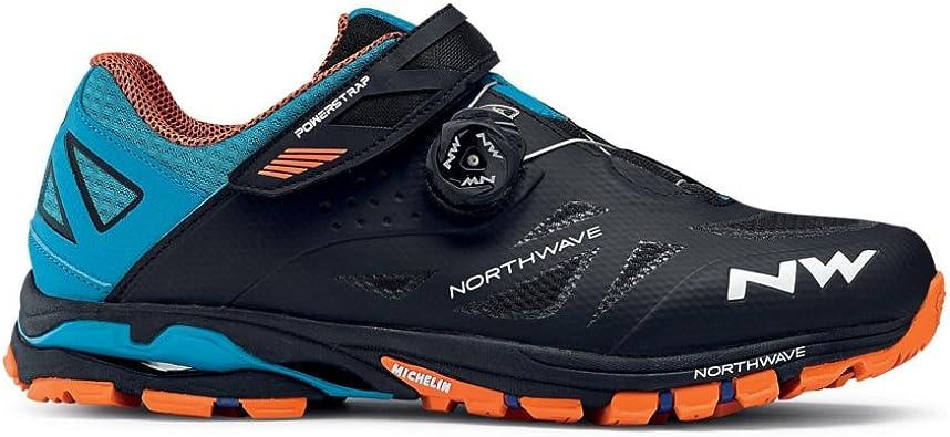 Zapatillas Northwave Spider Plus 2 Negro-Verde-Naranja 2016 ...