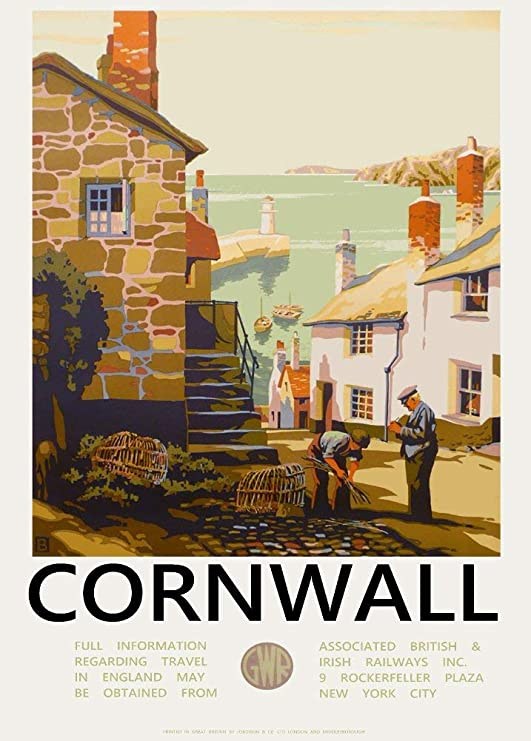 A1 A4 GLOSSY Wall photo poster Vintage Falmouth GWR Railway A0 A3 A2