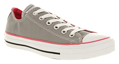 Converse All Star Ox Low Grey/pink Canvas Exclusive - 7.5