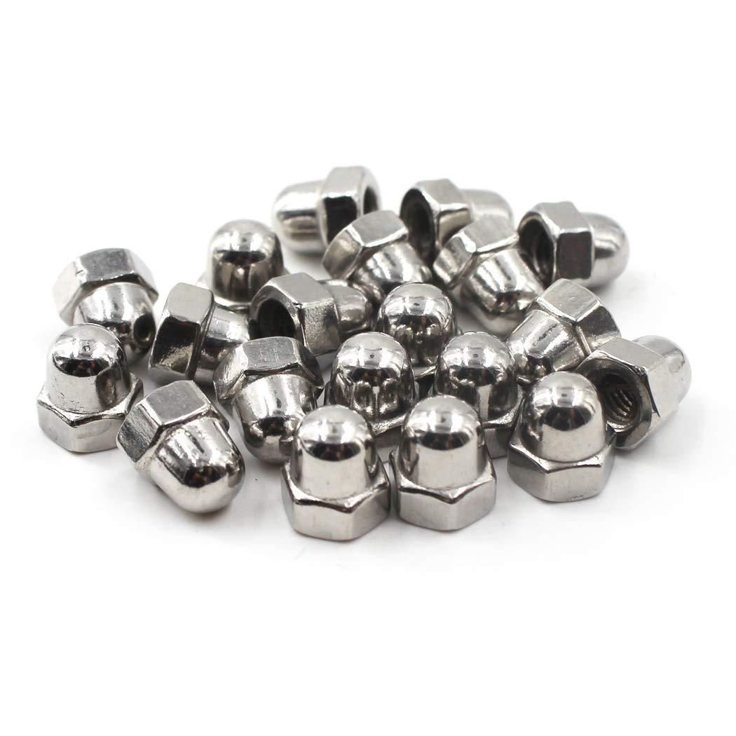 M3 Acorn Cap Nut Hex Nut Set 304 Stainless Steel 50PCS
