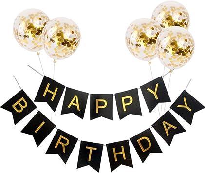 Amazon.com: Jasmey Happy Birthday Banner, banderines de ...