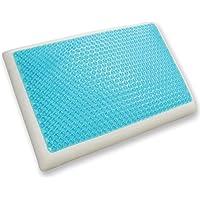 Classic Brands Reversible Cool Gel y almohada de espuma de memoria, estándar
