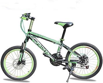 MASLEID Bicicletas Bicicletas de montaña de la Bicicleta de los niños 20 Pulgadas para los Hombres y Las Mujeres, Black Green: Amazon.es: Deportes y aire libre