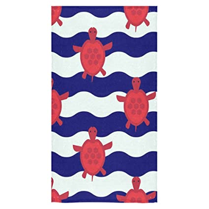 interestprint tortuga de toallas de ducha de toallas de mano para el hogar, al aire