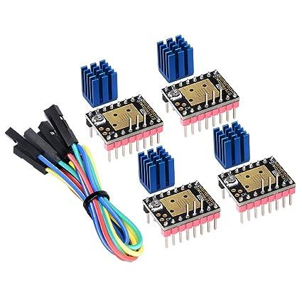 Kingprint TMC2208 V3.0 Amortiguador paso a paso con controlador de disipador