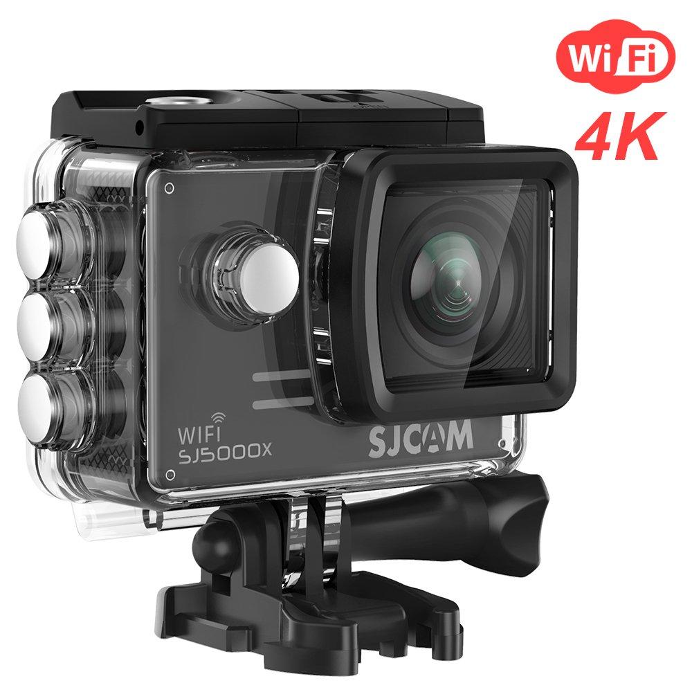 SJCAM SJ5000X Elite WiFi アクションカメラ 4k@24FPS 1080P 12MP Sony IMX078 スポーツ防水水中カメラ ジャイロ安定 2.0 LCDスクリーン B074Z6QHR4 ブラック ブラック
