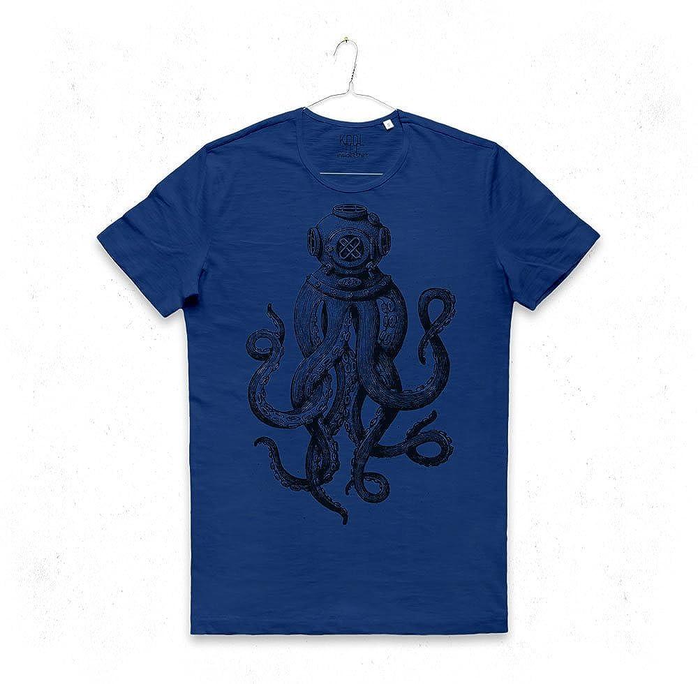 MAGLIETTA POLIPO PALOMBARO maglia uomo sub immersioni mare safe diver octopus helmet T-SHIRT MAN KO17ODH