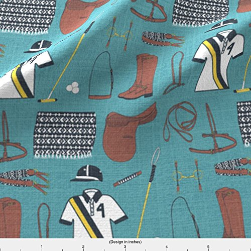 Spoonflower Polo Fabric Polo Gear by Ragan Printed on Performance Piqué Fabric by the Yard (Pique Polo Eco)