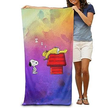 Snoopy dormir perro casa playa toallas de baño de adultos Unisex: Amazon.es: Hogar