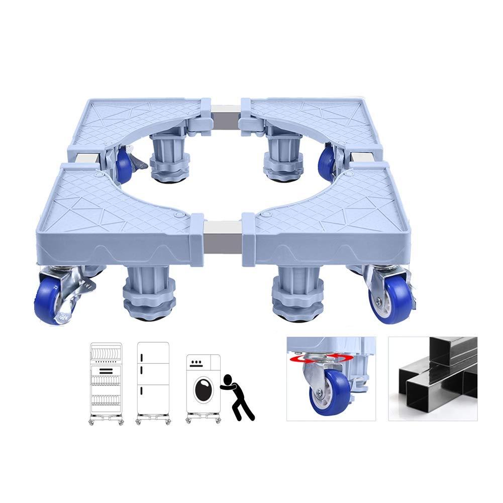 Movable Base-XXIOJUN Washing Machine Base,Fridge Stand Adjustable Universal Wheel Telescopic Design Plastic Stainless Steel, 2 Styles (Color : Gray, Size : 8 feet 4 Wheel) by XXIOJUN-Multi-functional Movable Base