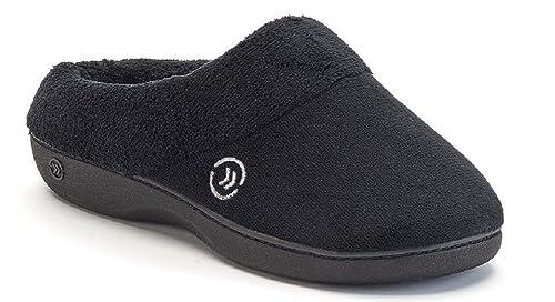 Isotoner de la Mujer Classic Microterry Hoodback Zapatillas: Amazon.es: Zapatos y complementos