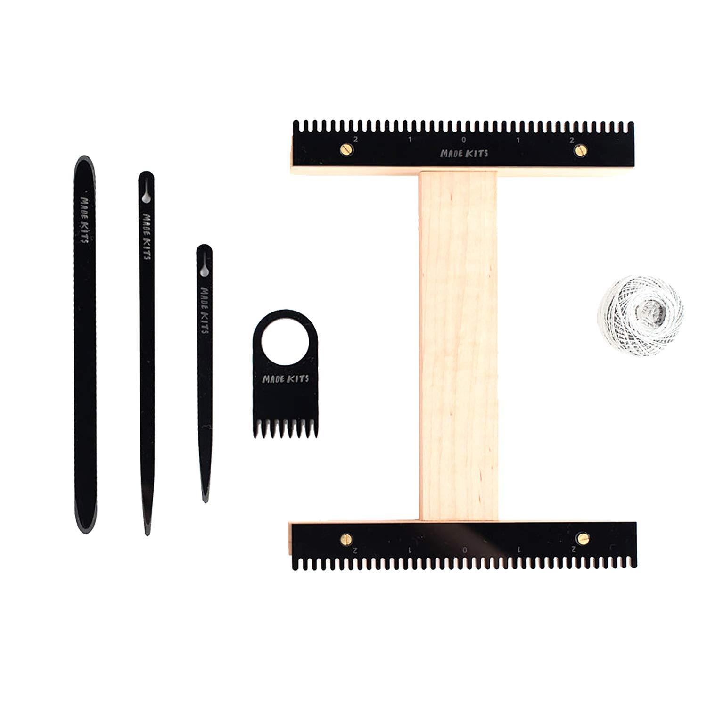 Weaving Loom Kit by One-OneThousand. I Loom Kit, Weaving Loom, Weaving Supplies, Learn to Weave, (Black)