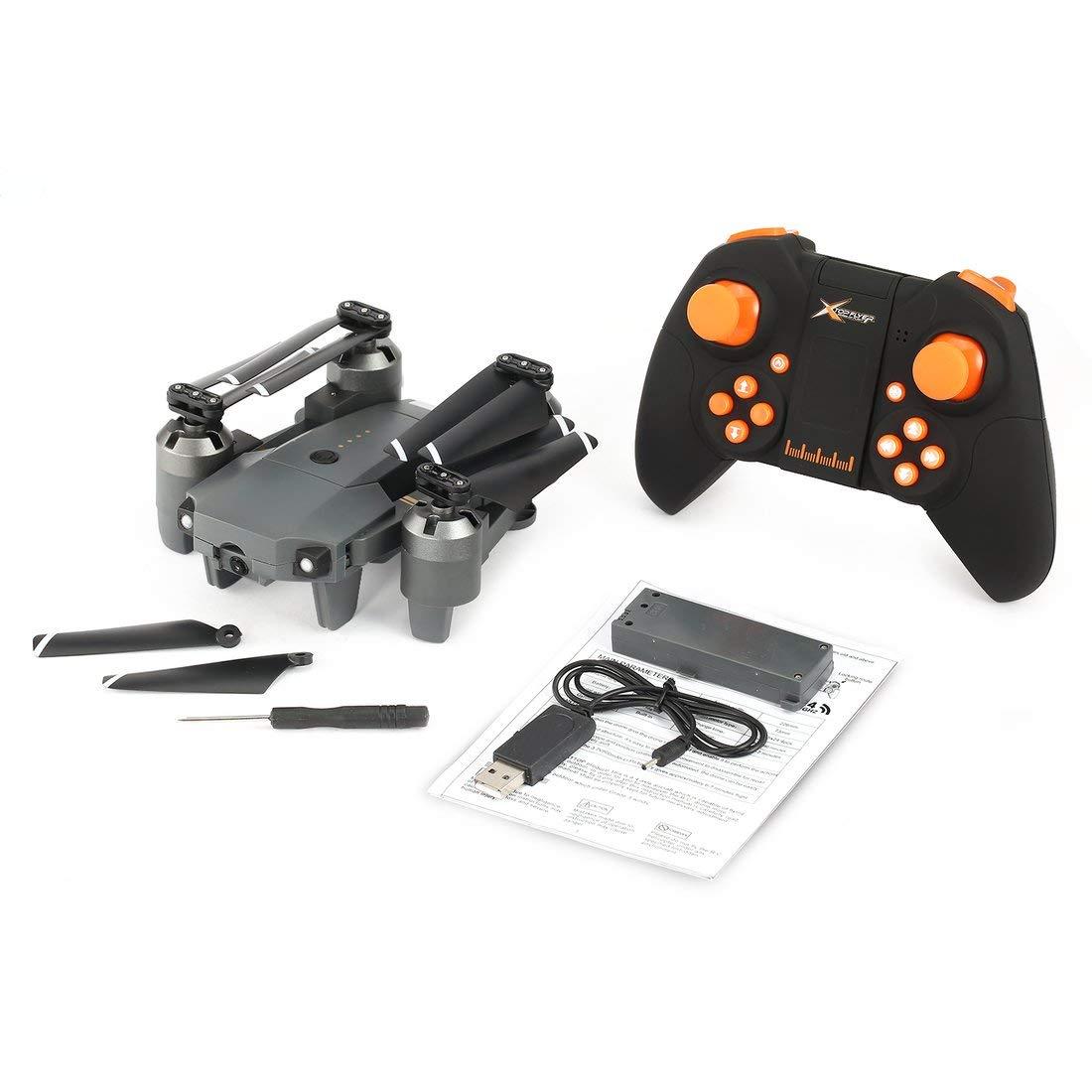 Attop XT-1 WiFi 2.4G FPV Cámara Drone 3D Flip Altitude Hold Plegable One-Key despegue / Aterrizaje sin Cabeza Modo RC Quadcopter