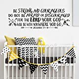 Fantastic handmade decal!!Joshua 1:9 Be strong and courageous Wall Decal Quote, Explorer Nursery, Arrows, Mountains, Nursery Vinyl Wall Decal, Bible Verse, Boy Room!See the color chart for your options. The photographs are for a reference be sure to ...
