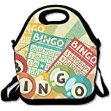 Staroind Bingo Game With Ball And Cards Pop Art Stylized Lottery Hobby Celebration Lunch Bag Tote For School Work Outdoor