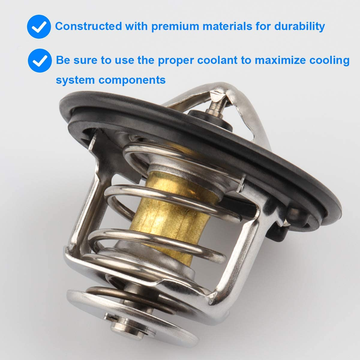 Engine Thermostat Assembly Replaces 19301-RNA-315 19301RNA315 19301-PAA-306 19301-PLC-315 Compatible with 2006-2015 Honda Civic 2016-2017 Honda HR-V by Sikawai