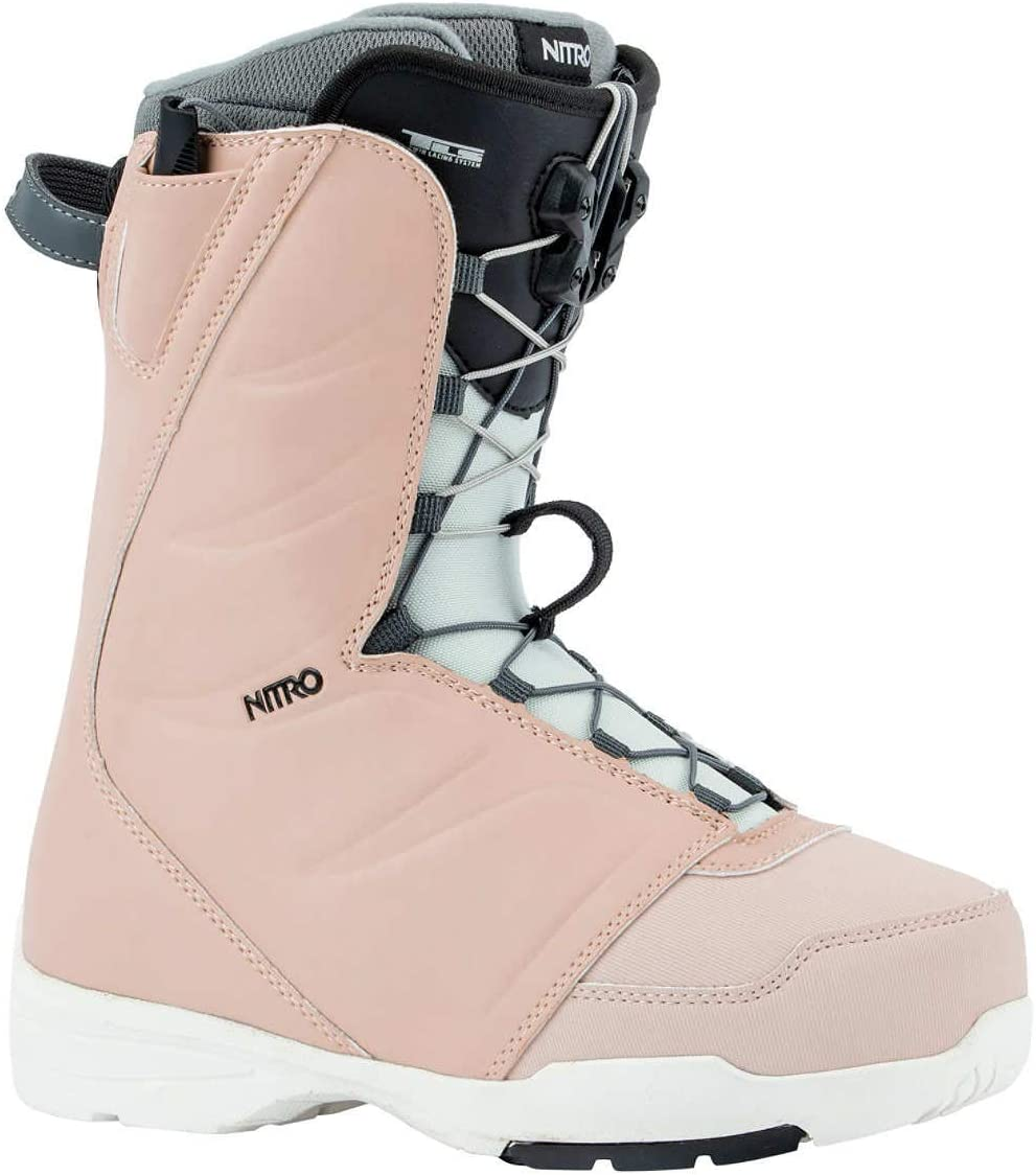 Nitro Snowboards Flora TLS 20 All Mountain Freestyle 23.0 con allacciatura rapida da donna Scarponi da snowboard