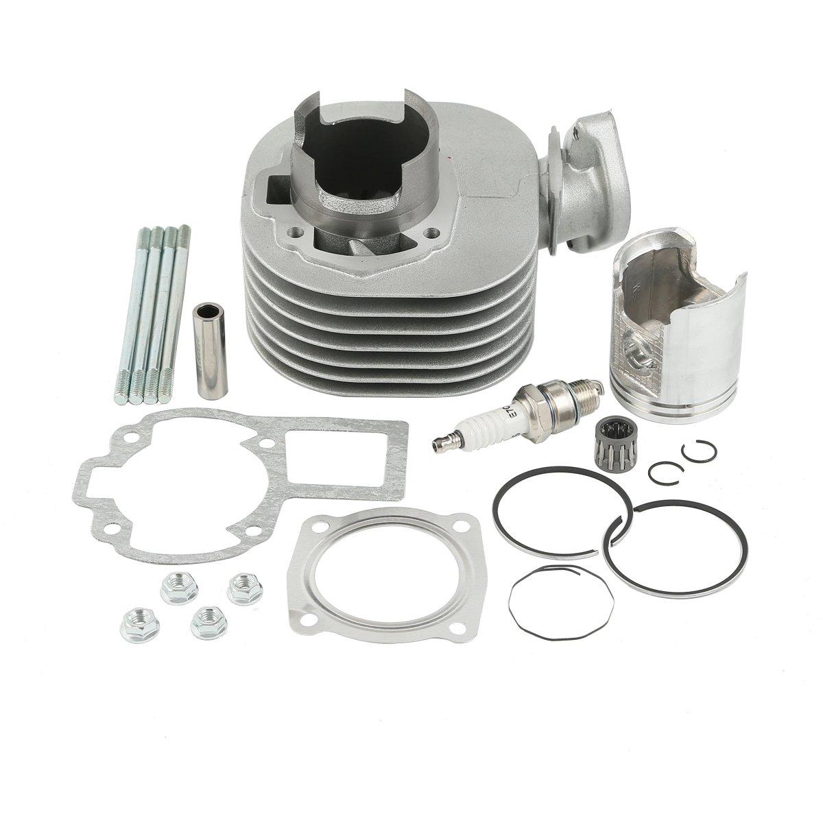 XMT-MOTO Cylinder Piston Top End Gasket Kit for Suzuki Quadsport LT 80 LT80 1987-2006(Replace Part Number:11210-40B01)