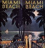 "COUPLE BEACH SAILBOAT MIAMI BEACH FLORIDA BEACH VACATION TRAVEL TOURISM 20"" X 24"" VINTAGE POSTER REPRO"