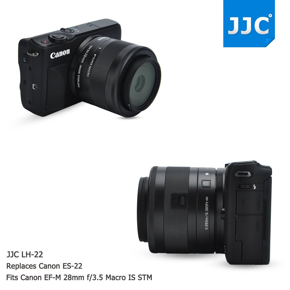 Jw Lens Hood Shade For Canon Ef M 28mm F 35 Macro Is Stm Replaces Es 22 Cleaning Cloth Camera Photo
