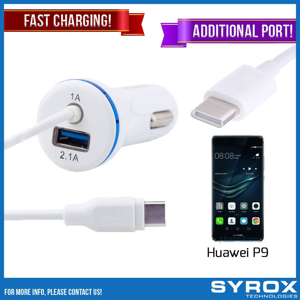 Syrox 50-Pack Type-C Car Charger & Port, Reversible 4 ft Fast Charging for Huawei P9, Samsung Galaxy Note 8, S8 Plus, LG V30, V20, G6, G5, Google Pixel, 6P, Nintendo Switch and All