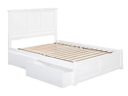 Amazon Com Atlantic Furniture Ar8642112 Madison Bed Queen White