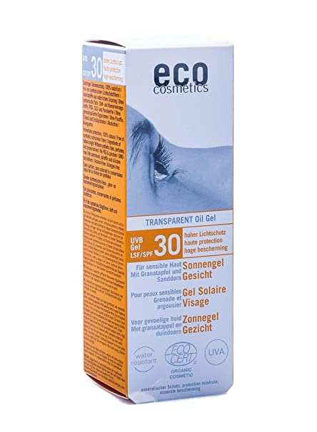 Eco Cosmetics sol cara Gel SPF 30 Transparente 30 ml