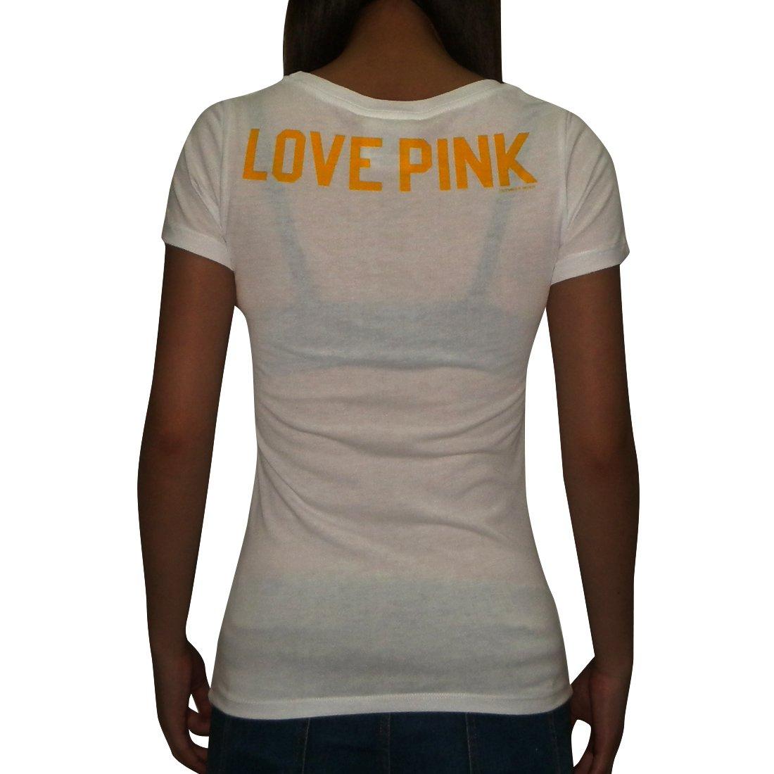 Amazon.com  NFL Minnesota Vikings Womens Pink Victoria s Secret T Shirt  Large White  Sports   Outdoors 56d34b02d