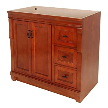 Foremost Fmnaca3621d Naples 36 Inch Bath Vanity Cabinet Only Vanity Warm Cinnamon