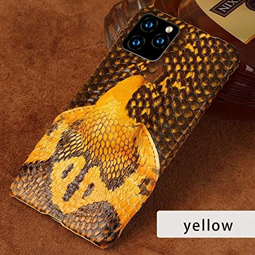 Orchilld Genuine Snakeskin Leather Phone case for iPhone 11 11Pro 11 Pro MAX X XS XSmax XR 6 6s 8 7 Plus 5 se 3D Cobra Head Luxury Cover by Orchilld
