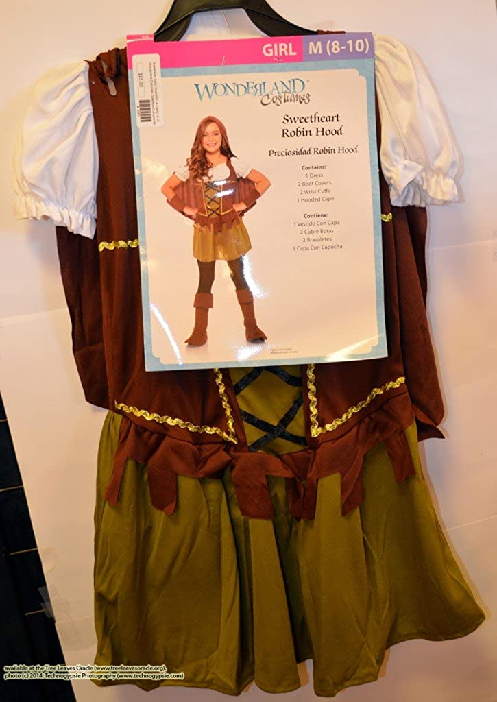 Amazon.com: Wonderland Costumes: Sweetheart Robin Hood (Girl: Xl 14-16): Clothing